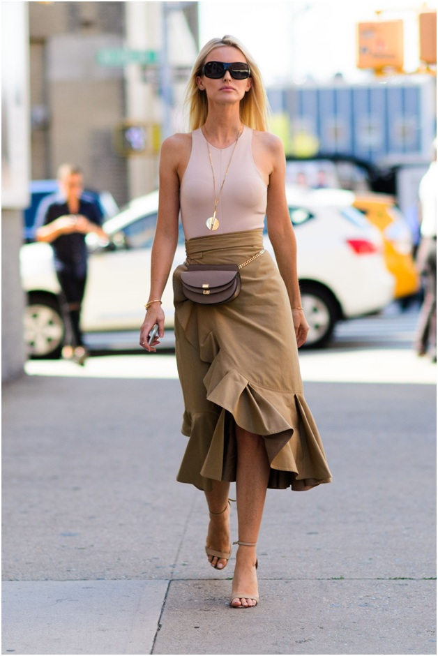Trendy Wrap Skirt Outfit