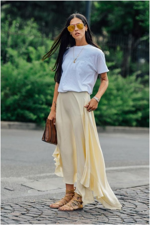 Casual Skirt Outfit